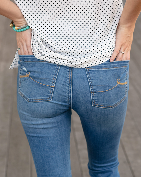 Cropped Button Fly Jeggings