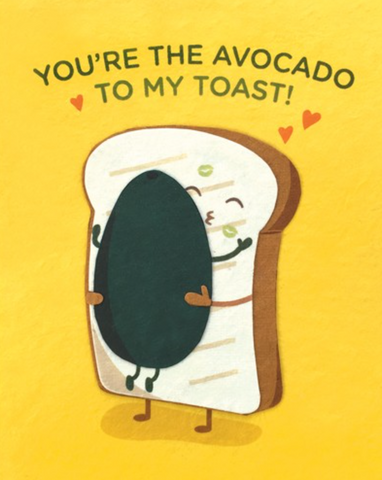 Avocado Toast Love Card