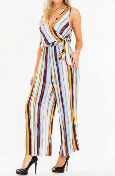 Debra Jumpsuit -- Denim/Mustard