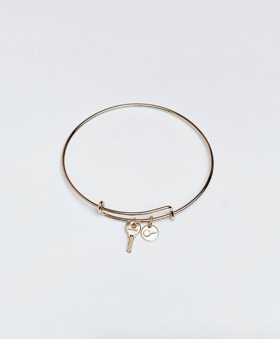 Giving Keys Petite Key Bangle WORTHY -- Gold