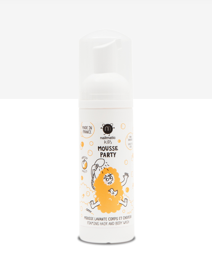 Kids Foaming Hair and Body Wash -- Apricot