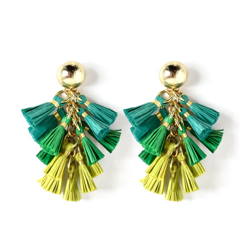 Holcombe Earrings -- Green
