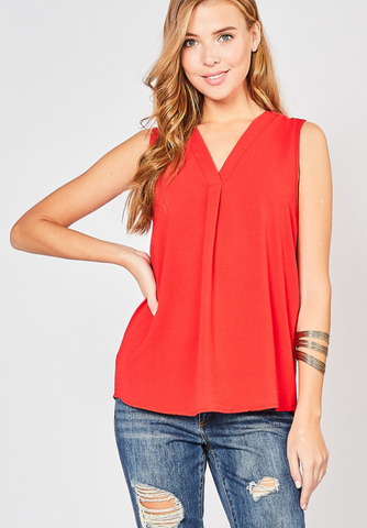 Theresa Top -- Red