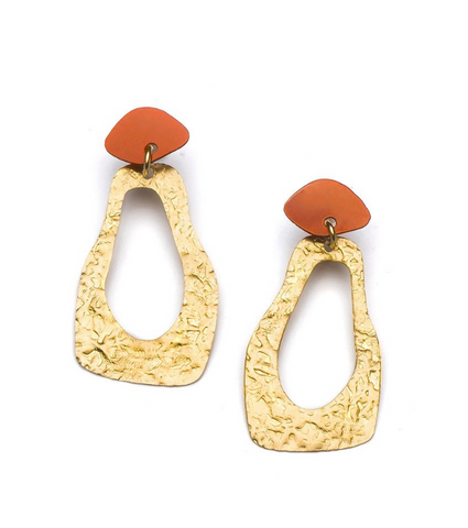 Nihira Earrings -- Gold Footprint