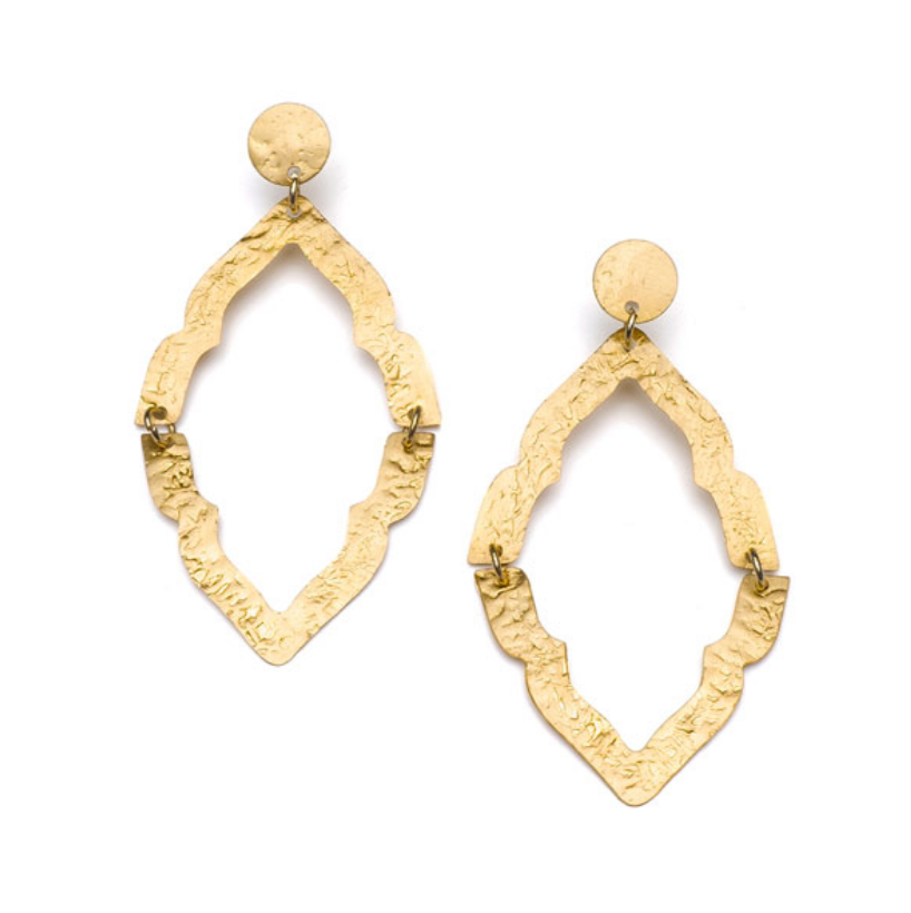Nihira Ashram Window Earring -- Gold