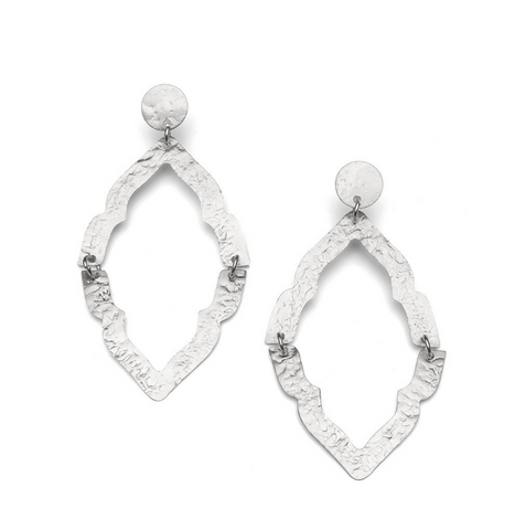 Nihira Ashram Window Earring -- Silver