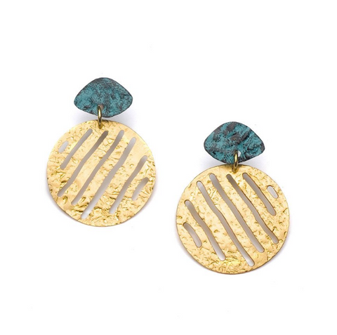 Nihira Earrings -- Gold Medallion