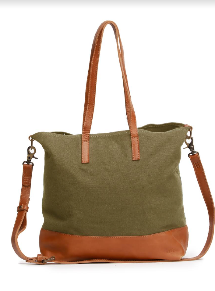 Abera Crossbody Canvas -- Olive Canvas/Chestnut
