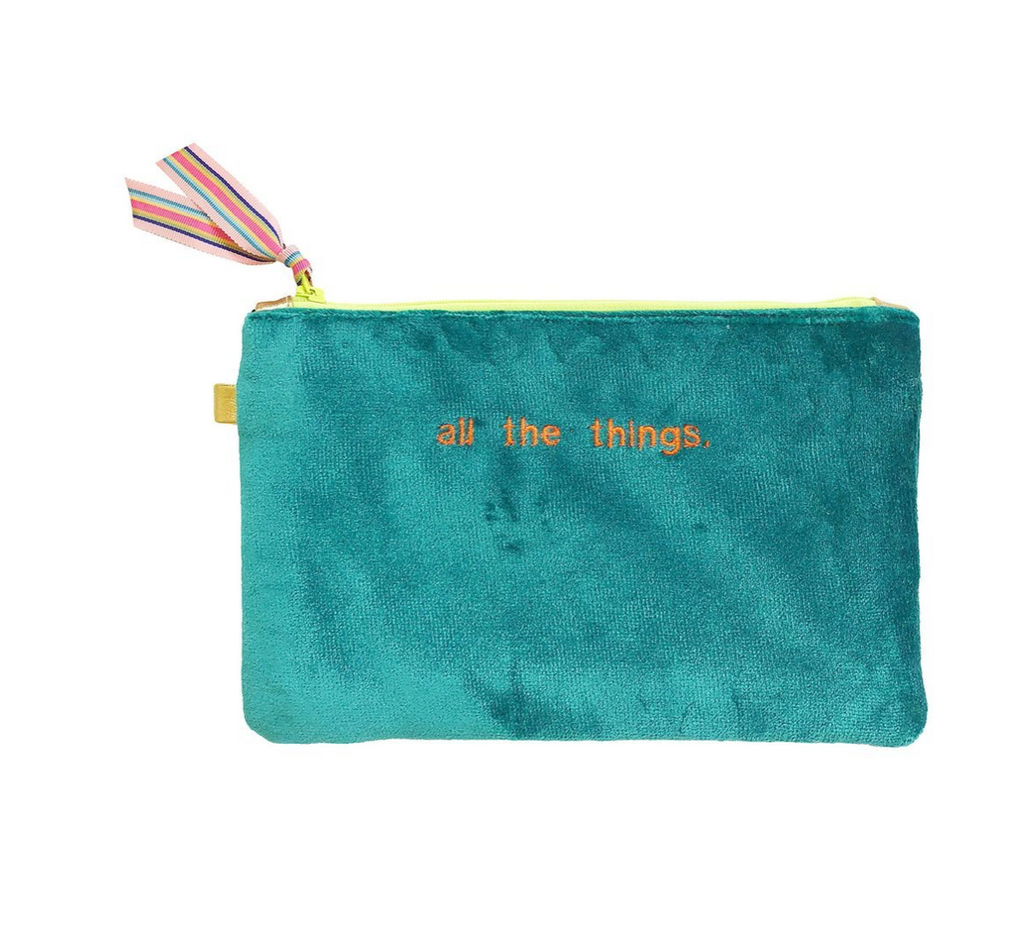 All The Things Pouch -- Aqua