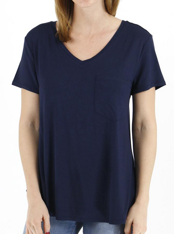Perfect Pocket Tee -- Navy