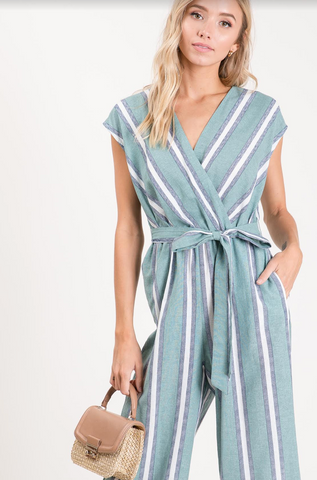 Destin Jumpsuit -- Jade