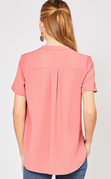 Valerie Top -- Dark Salmon