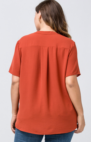 Valerie Top -- Rust (Plus Size)
