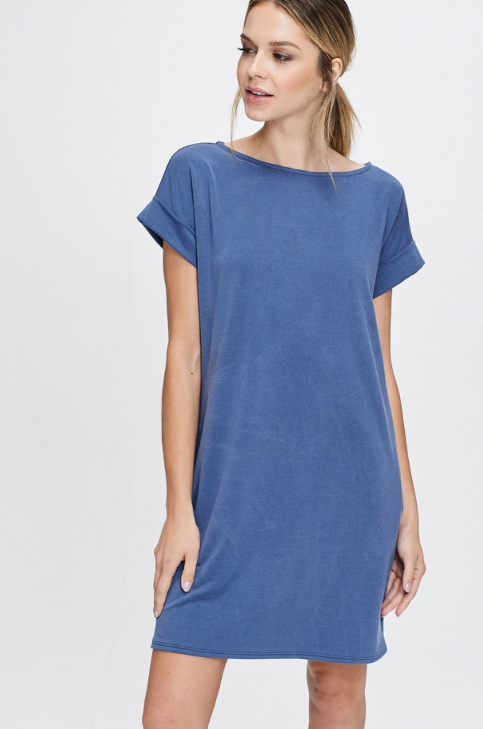Terry Dress -- Blue