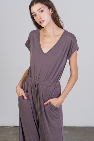 Jo Jumpsuit -- Dusty Plum