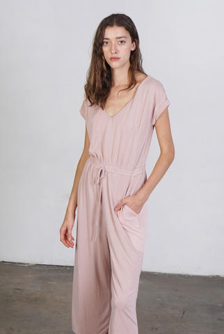 Jo Jumpsuit -- Peach