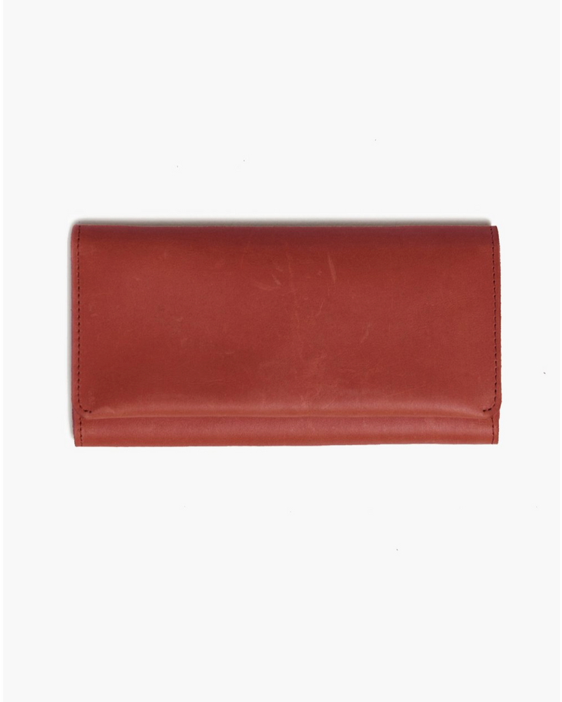 Debre Wallet -- Brick Red