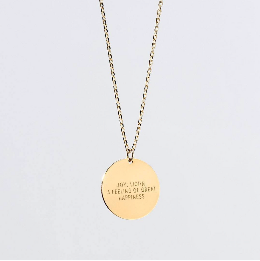Giving Keys JOY Definition Necklace -- Gold