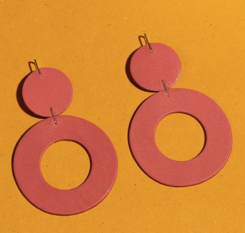 Stela Earrings -- Pink