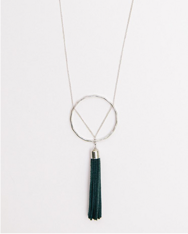 Ellaria Tassel Necklace -- Grey