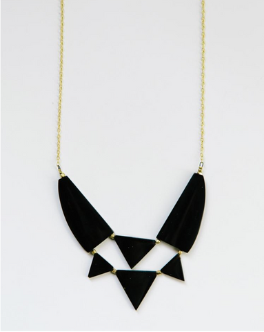 Azzizi Necklace -- Black