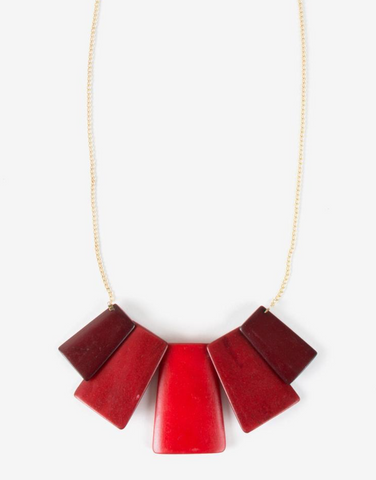 Voyager Necklace -- Red