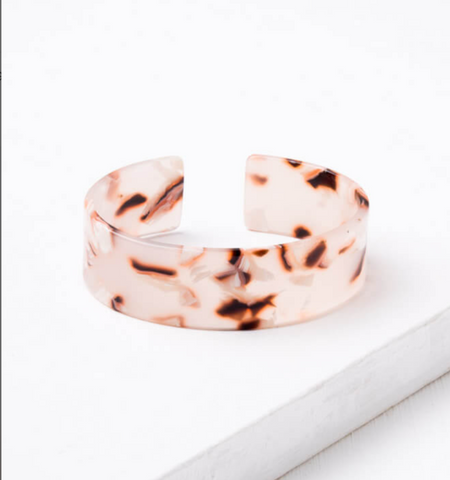 Emma Blush Resin Cuff Bracelet