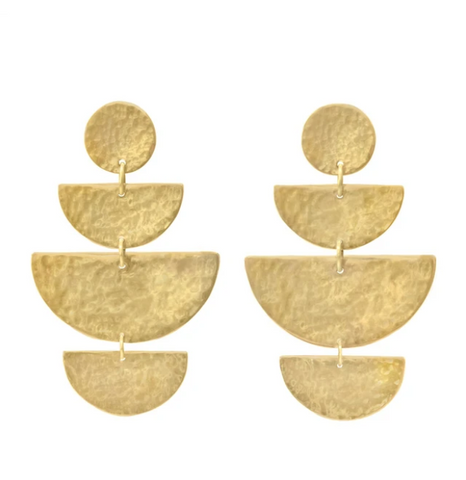 Prima Earrings -- Gold