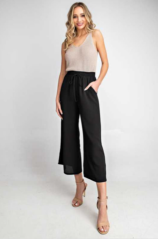 Gracey Wide Leg Pant -- Black