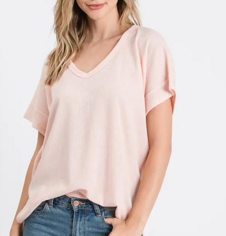 Chanel Top -- Blush