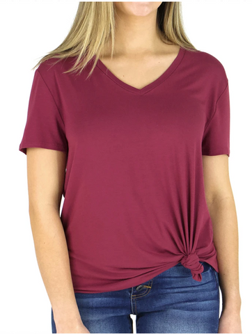Perfect V-Neck Tee -- Boysenberry
