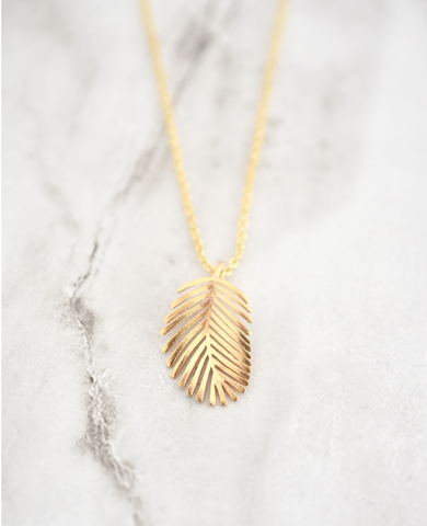 Lauren Necklace -- Palm Leaf