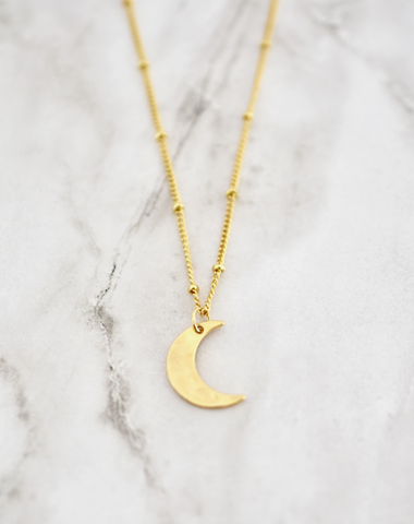 Lauren Necklace -- Moon
