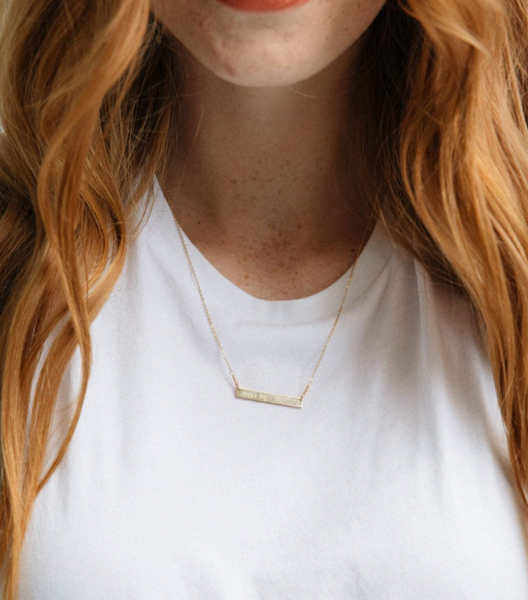Horizon Necklace -- Gold