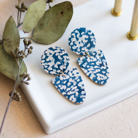 Drew Earrings -- Bluebell