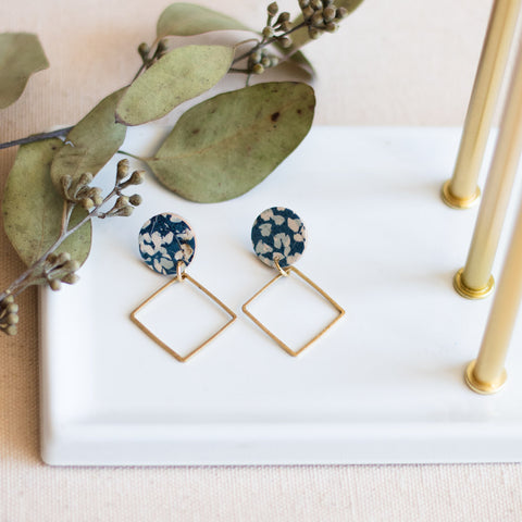 Lara Earrings -- Bluebell