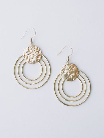 Splendid Sun Earrings -- Silver (INCORRECT IMAGE COLOR)