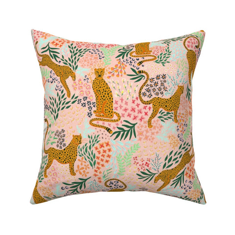 PILLOW COVER LIGHT PINK CHEETAH -- Spoonflower x The Flourish Market Limited Edition Home Collection