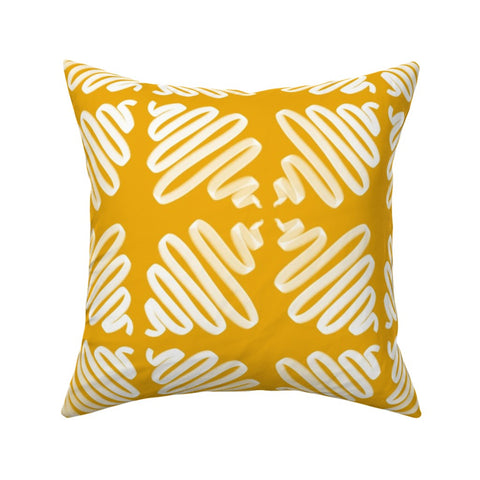 PILLOW COVER GOLD WIGGLES -- Spoonflower x The Flourish Market Limited Edition Home Collection