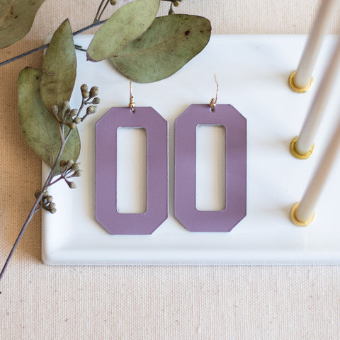 Denver Earrings -- Lavender