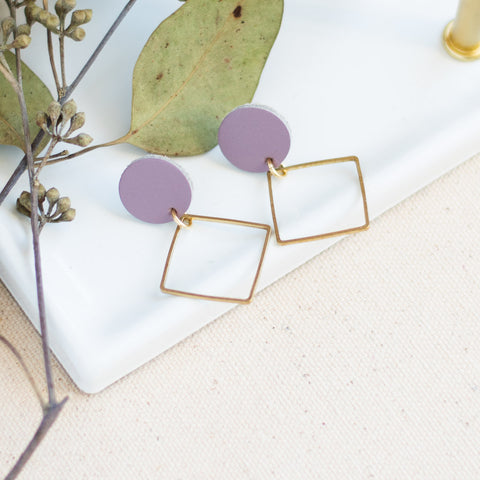 Lara Earrings -- Lavender