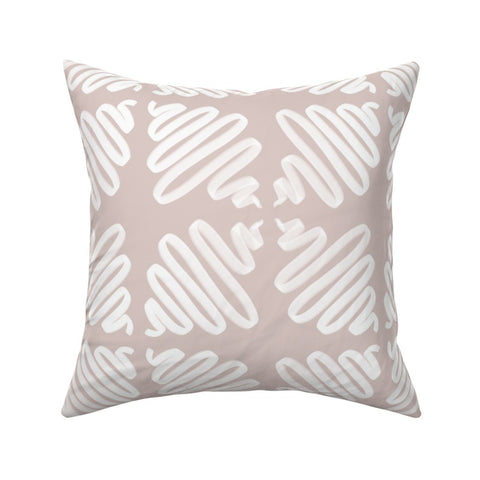 PILLOW COVER NEUTRAL WIGGLES -- Spoonflower x The Flourish Market Limited Edition Home Collection