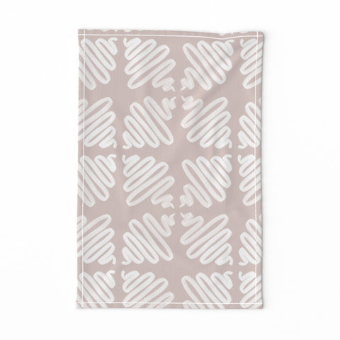 TEA TOWEL NEUTRAL WIGGLES -- Spoonflower x The Flourish Market Limited Edition Home Collection
