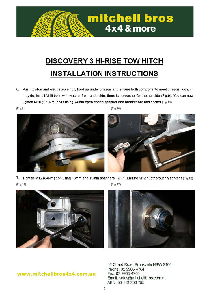 Mitch hitch installation instructions mitchell bros 4x4 mitch if you need any further assistance please dont hesitate to call us on 02 9905 4764 publicscrutiny