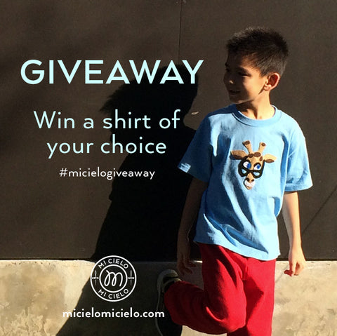 Win a mi cielo shirt of your choice!