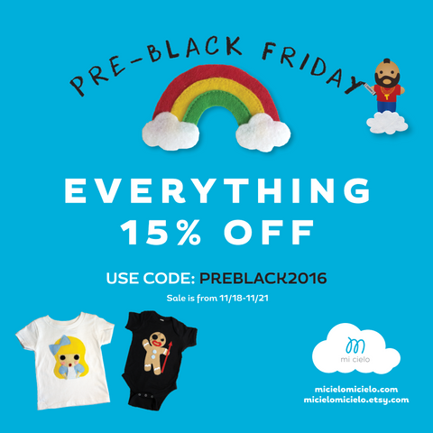 Pre-Black Friday Sale! 15% off everything