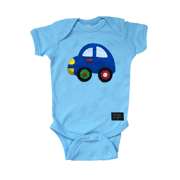 mi cielo x JUAN DE LASCURAIN - The Car – Baby Light Blue Onesie
