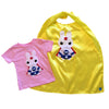 Kids Superhero Cape and Shirt - Team Super Animals - Star Bunny