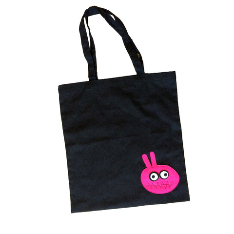 mi cielo x Matthew Langille - Bunny Monster Black Tote Bag