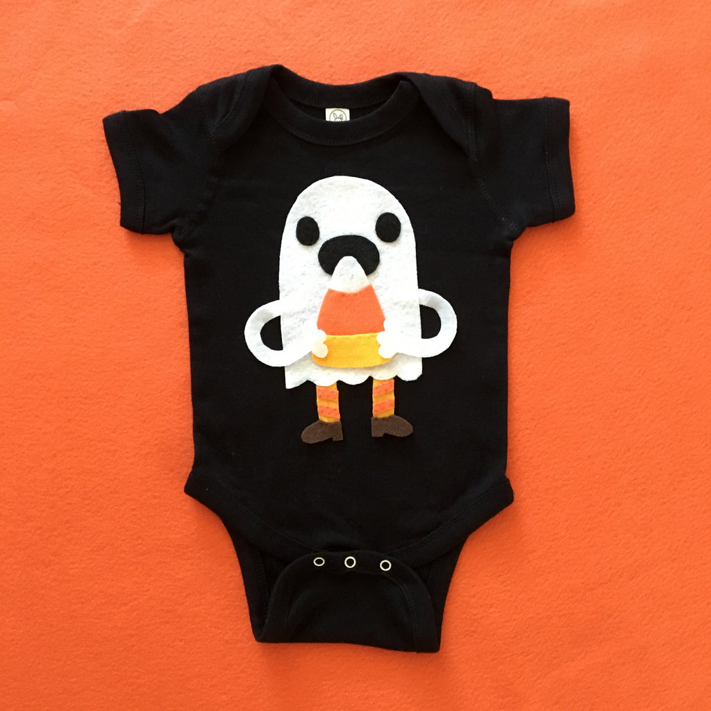 Candy Corn Love Ghost - Baby Bodysuit - Costume
